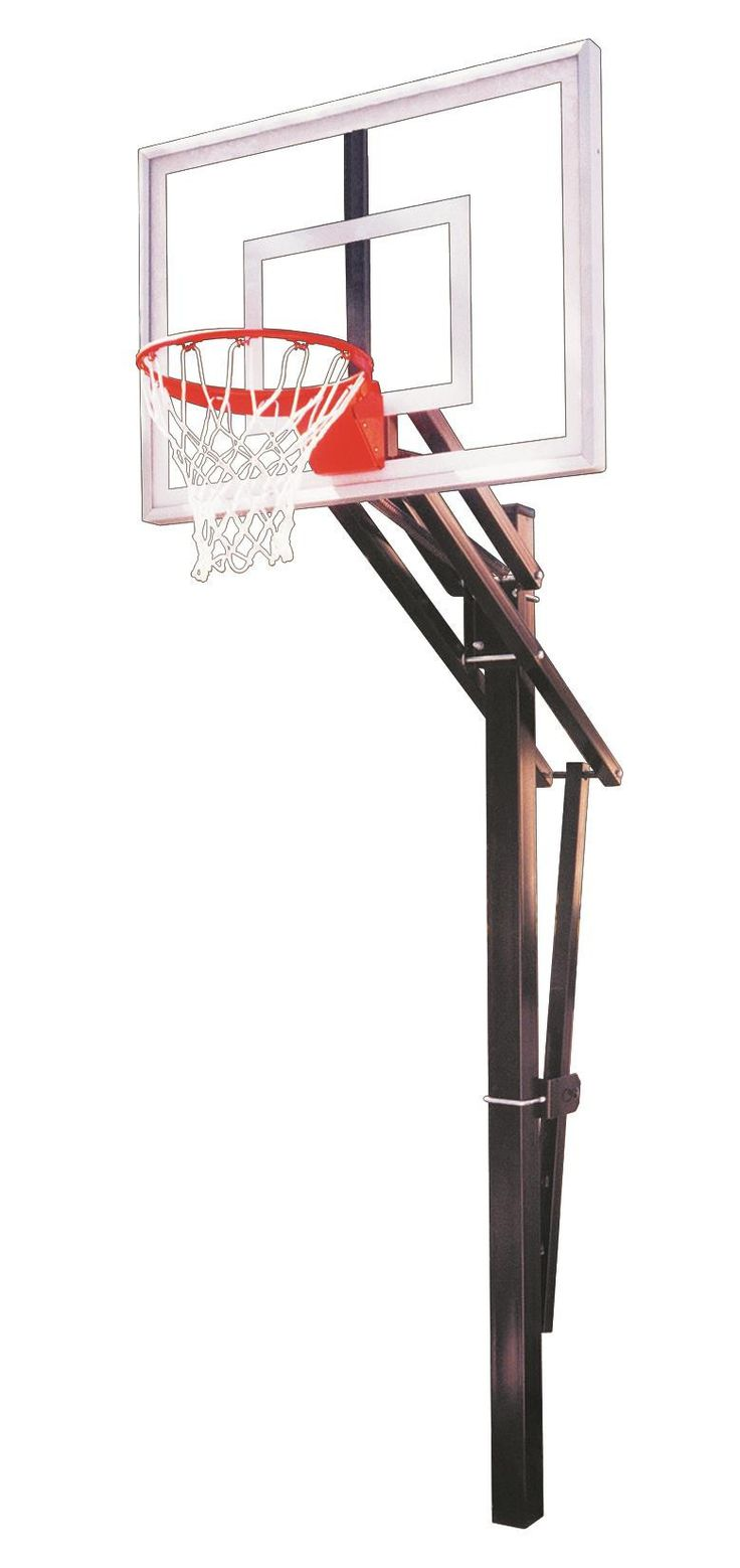 First Team Slam Turbo In Ground Outdoor Adjustable Basketball Hoop 54 inch Tempered Glass from NJ Swingsets