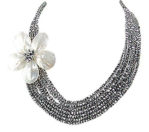 Stunning 925 Sterling Silver Comet Argent Light Multi-layer Cascading Flower Beaded Statement Women's Necklace 19.5 inches 925e http://www.amazon.co.uk/dp/B018BP30ES/ref=cm_sw_r_pi_dp_ZZw7wb1E9CJ12