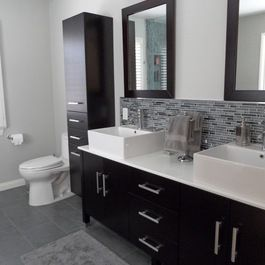 Kitchen cabinets and countertops los angeles - Gray Bathroom Tiles Design Ideas Pictures Remodel And