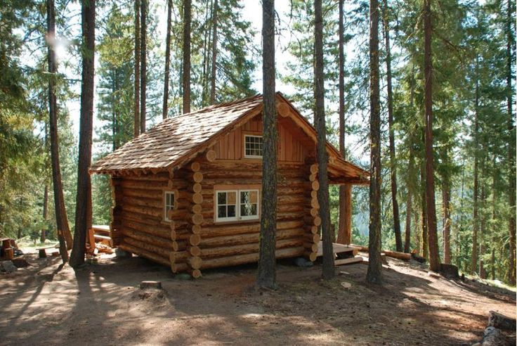Small Log Cabin Kit Homes Small Log Cabin Floor Plans: Northwest Log Cabin 12X16 - Small Cabin