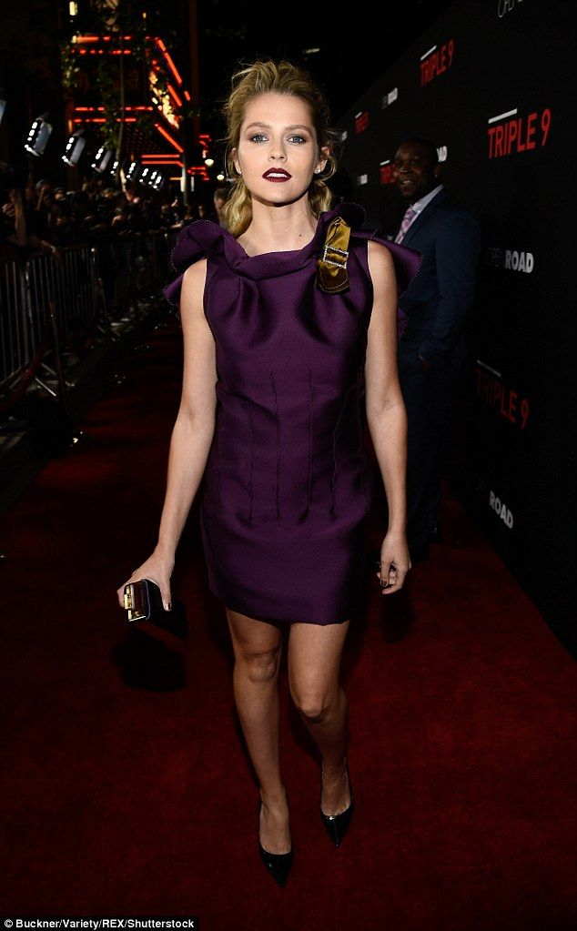 Flawless: Australian actress Teresa Palmer stole the show at the Triple 9 premiere in Los ...