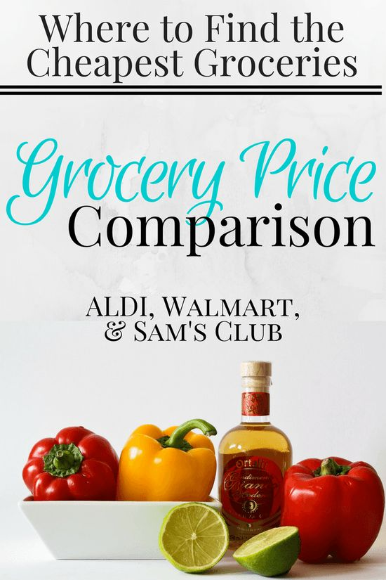 Grocery Price Comparison: ALDI, Walmart, & Sam's Club | Find out which stores have the best and cheapest prices on your favorite grocery items! | Save Money | Personal Finance | Financial Tips | Grocery Shopping