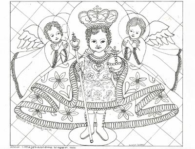 feast of santo nio de ceb the holy child of cebu litany of the infant jesus and coloring page