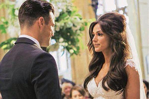 Michelle Keegan's wedding hair