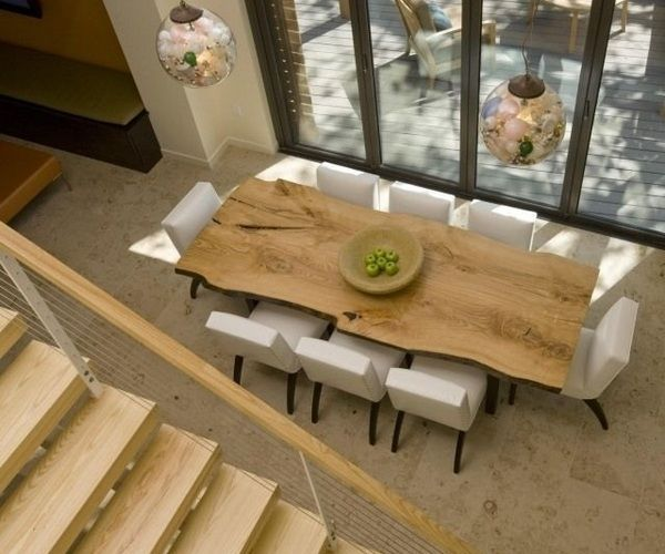 Die besten 25+ Wood slab dining table Ideen auf Pinterest - modernes esszimmer interieur ideen