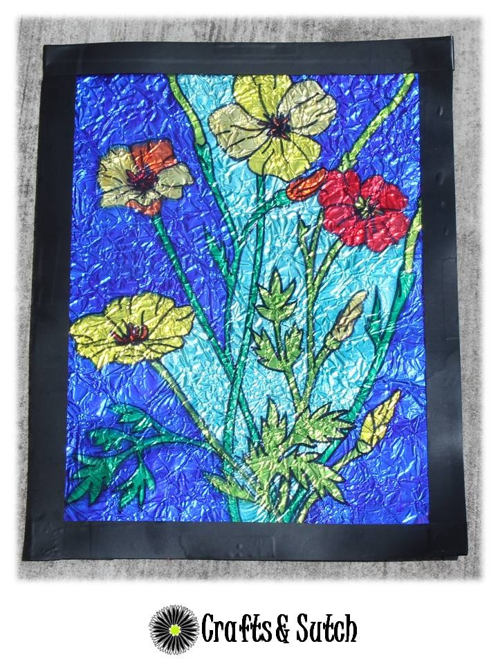 faux stained glass- markers, tin foil | Art | Pinterest ...