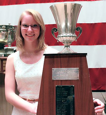 Amy Fister, winner of this year's NRA Smallbore 3-Position Rifle High Woman title, had little trouble finding the X ring.