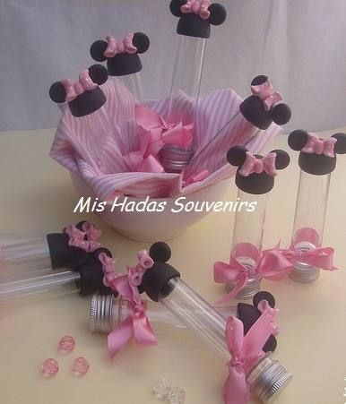 Souvenirs Tubos Minnie Mickey Kitty