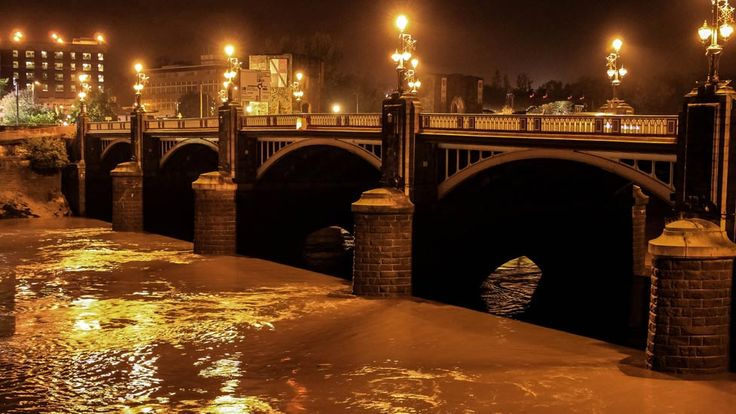 A night-time view of Town Bridge in Newport, South Wales, UK - by Ela Fraczkowska from Cardiff
