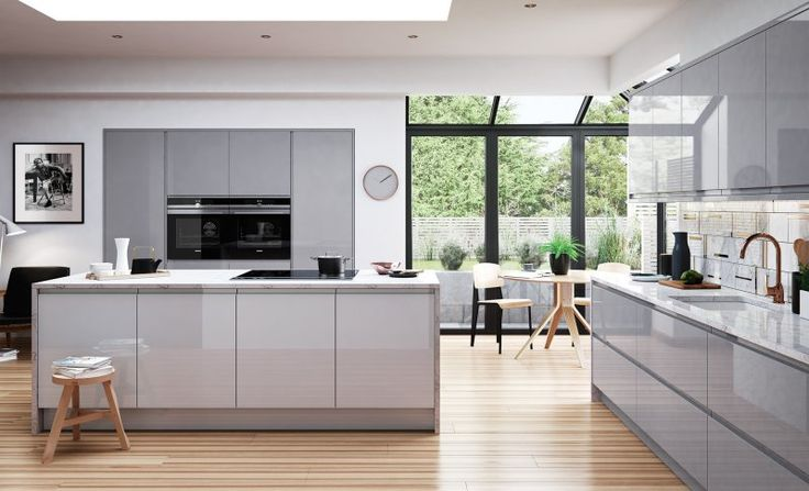 25 Best Ideas About Grey Gloss Kitchen On Pinterest Gloss Kitchen High Gloss Kitchen
