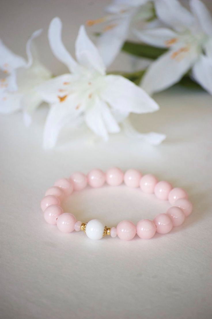 A personal favorite from my Etsy shop https://www.etsy.com/listing/250649137/bracelet-pink-bracelet-pink-stretch