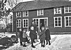 Barnehagebarn i Svanviken arbeidskoloni, 1923. Foto: Riksarkivet