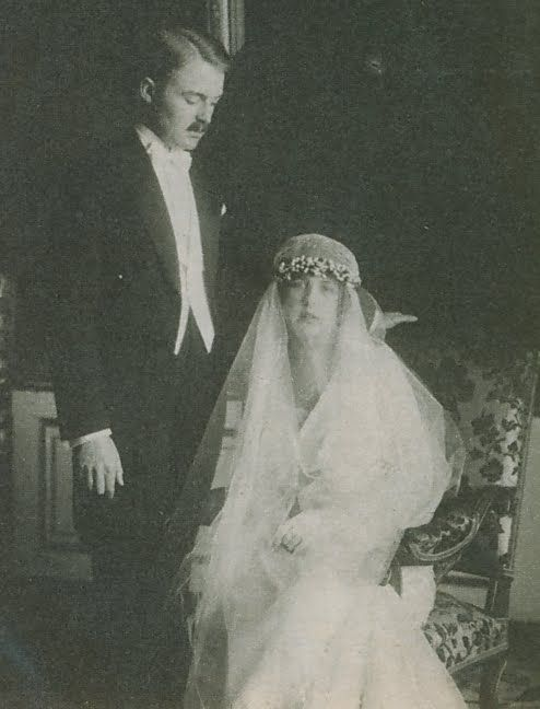 1920 Wedding of Princess Charlotte of Monaco and Count Pierre de Polignac (later Prince of Monaco and Duke of Valentinois)