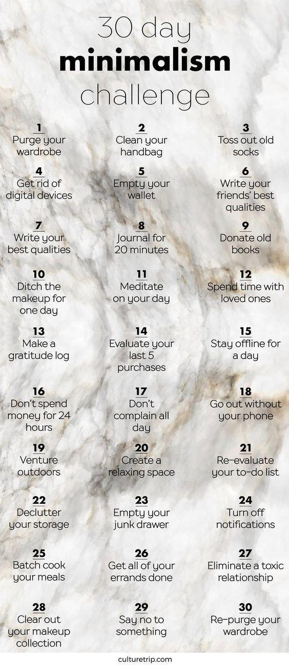 Die 30-Tage-Minimalismus-Herausforderung  – Karen Hannifin – #30TageMinimalismus… – Alles für Frauen