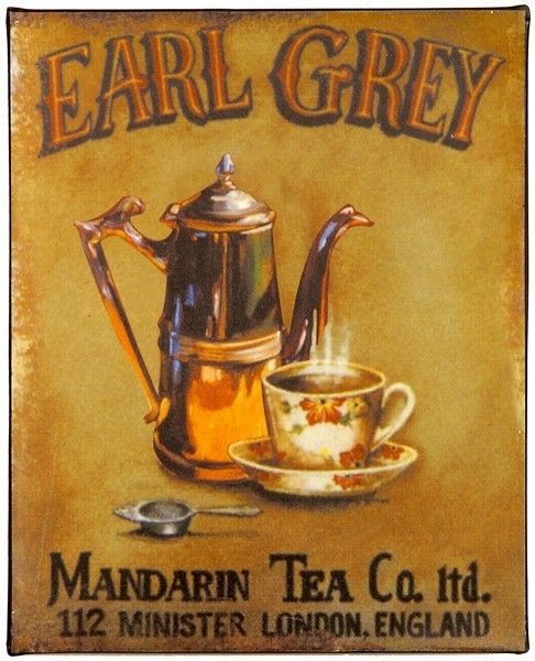 Project 1 - Competitive Analysis;   Old ad for Earl Grey tea;  Typical ad dating from 1894. Muted colors and very basic.