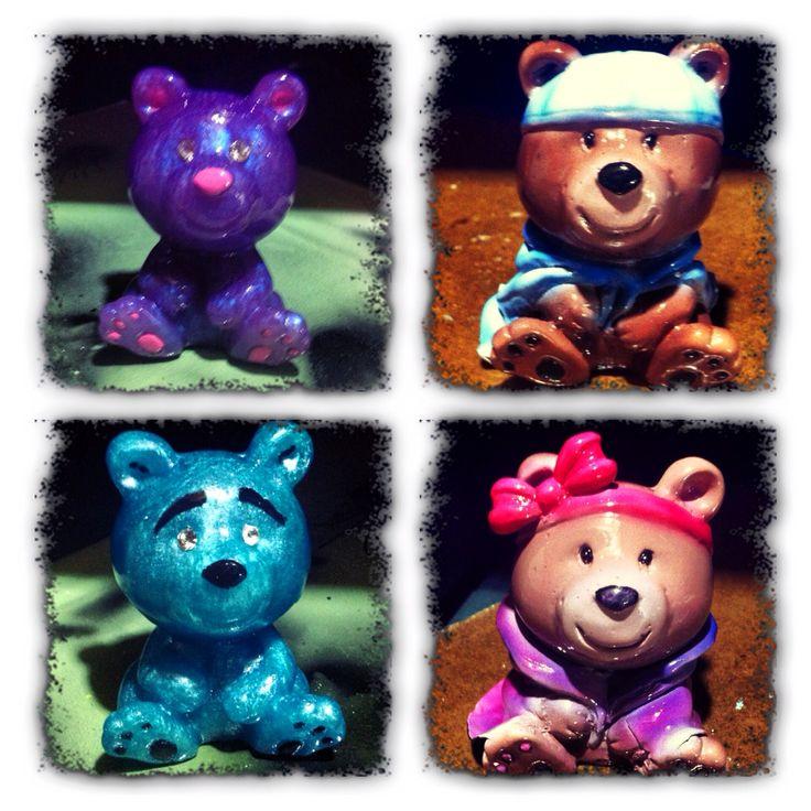 One of a kind resin teddy bears