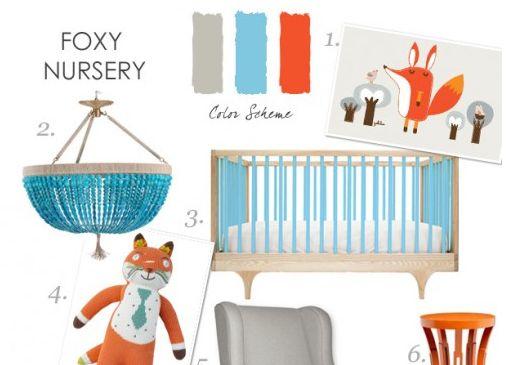 Project Nursery - Fox Themed Nursery Design Board