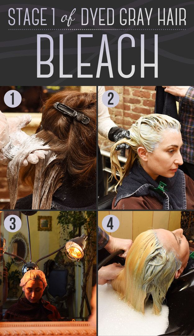 OK, so you've decided you want to go gray. The first thing you'll need to do is bleach your hair. | Here Is Every Little Detail On How To Dye Your Hair Gray