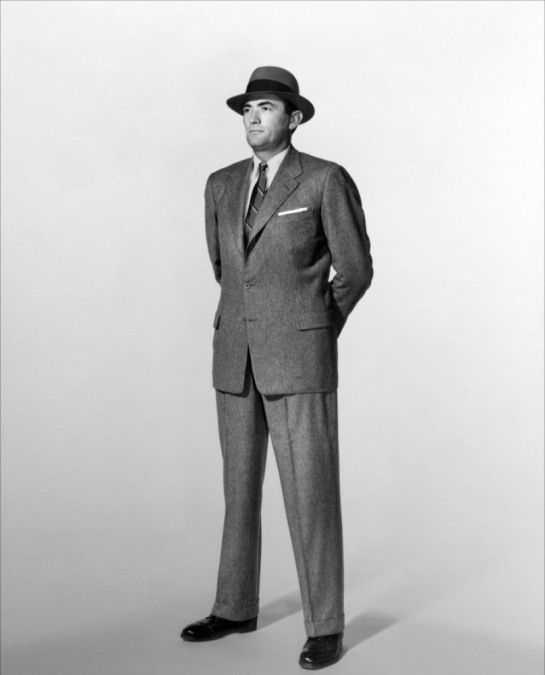 Gregory Peck in The Man in the Gray Flannel Suit, about the facade of middle class life in the 1950′s