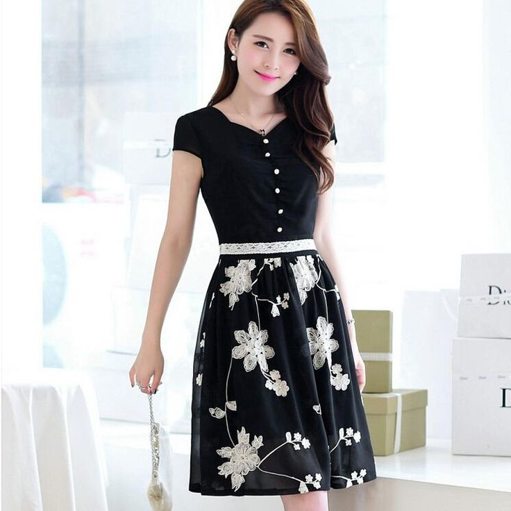 229 Best Images About Vestidos On Pinterest Preppy Style Skirts And Korean Style