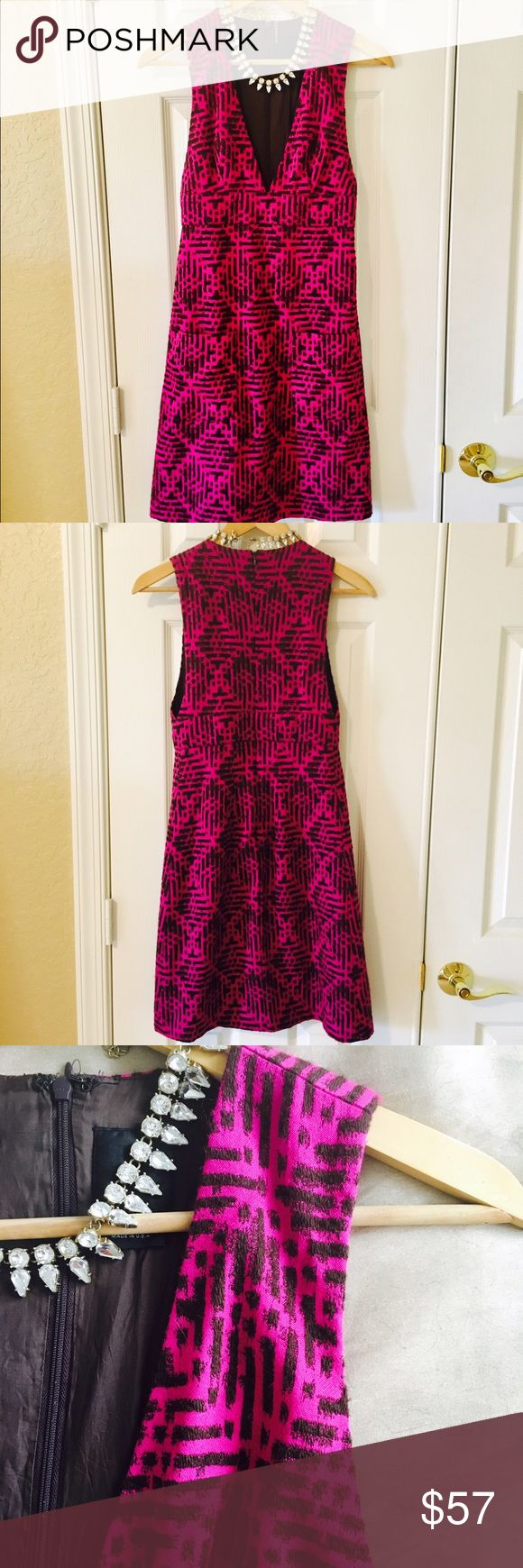 Anna Sui Pink Patterned Dress Gorgeous Anna Sui Pink Patterned Dress. This dress so beautiful! Love it, just too hot for Fl, 25%wool. Cute front pockets, So unique! Such a great look with Boots or heels, even flats! Just gorgeous. Excellent condition! Anthropologie Dresses