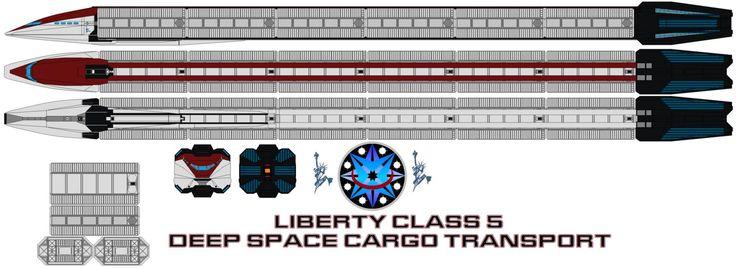 Liberty class 5 deep space cargo  transport by bagera3005.deviantart.com on @DeviantArt