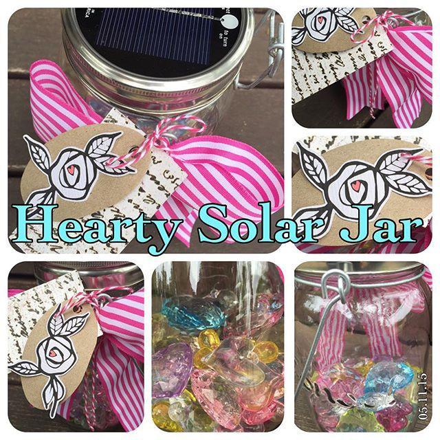 """""""Hearty Solar Jar for my friend's 50th Birthday""""  #sharehandmadekindness"""