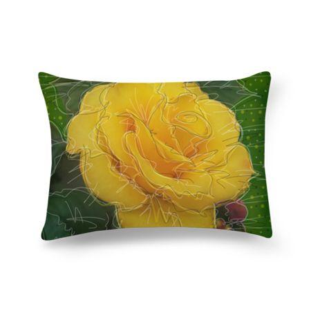 Almofada retangular Rosa amarela do Studio Celista por R$60,00