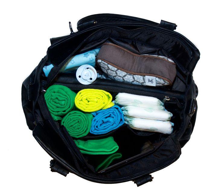 Gaia & Ko Carry pusletaske - så meget kan den indeholde.