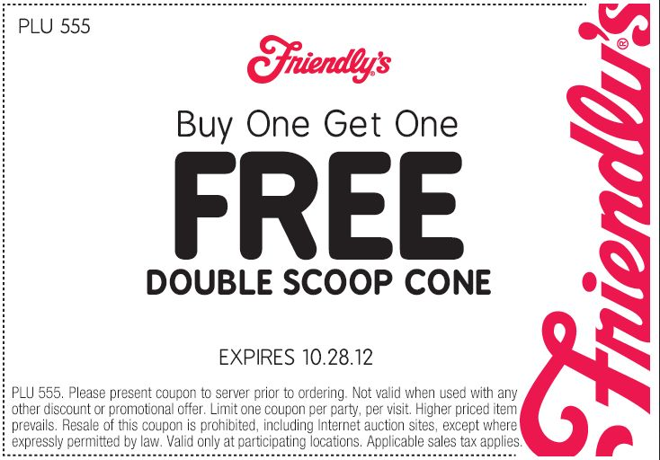 8 best coupons and good deals images on pinterest printable friendlys coupon friendlys promo code from the coupons app second double scoop ice cream cone free at friendlys restaurants december fandeluxe Gallery