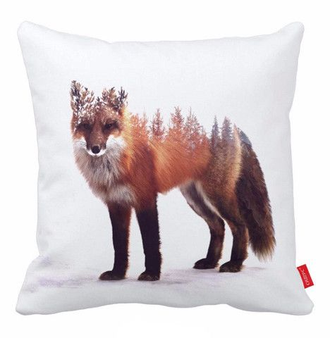 Red Fox Cushion Cover Brown Pillow Case Throw Pillows For Couch Decorative Pillow Covers 18x18