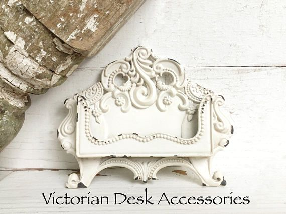 Business Card Holder Metal Card Holder Business Card Holder Victorian Office Shabby Chic Craft Fair