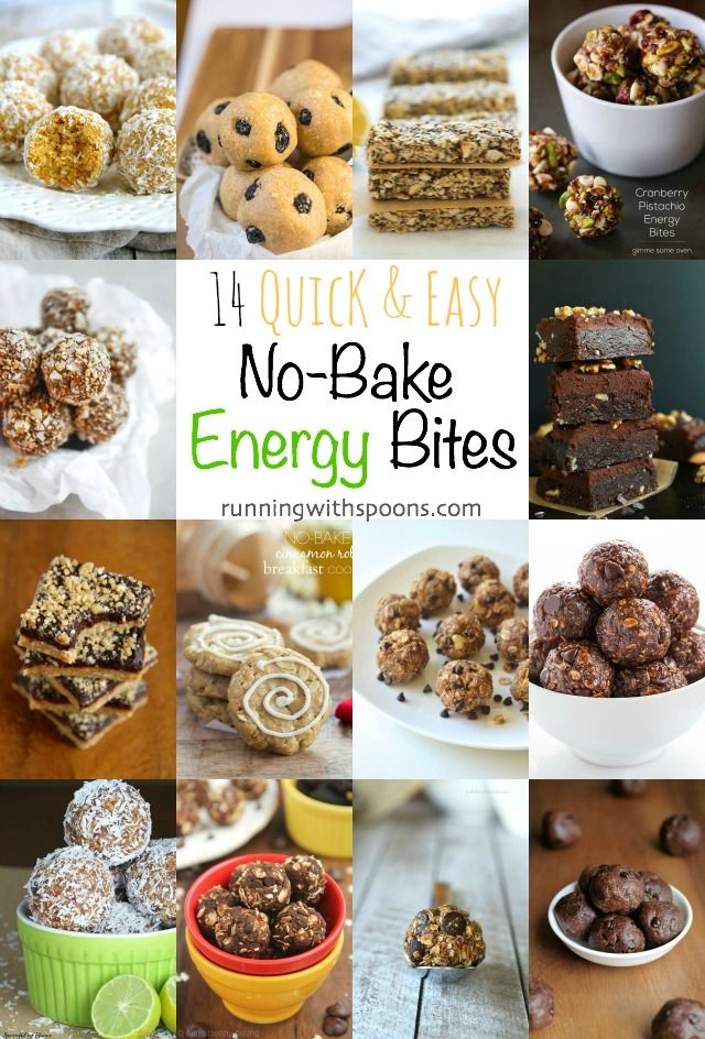 14 Quick and Easy No-Bake Energy Bites || runningwithspoons.com