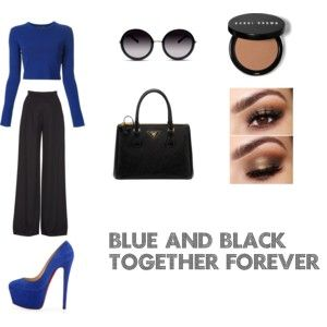 """""""blue and black"""" by jessicadawson8 on Polyvore"""