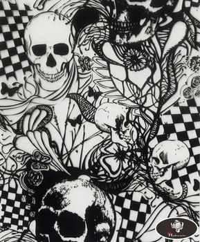 New arrival scary skull pattern hydro water transfer printing hydrographics film,50cm wide,hydro dipping HYA-768