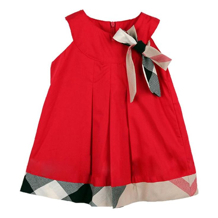 Preppy plaid baby girls dress that your baby girl will love! So cute! Only $19.99