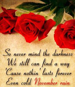Lyrics~ Guns N' Roses song - November Rain
