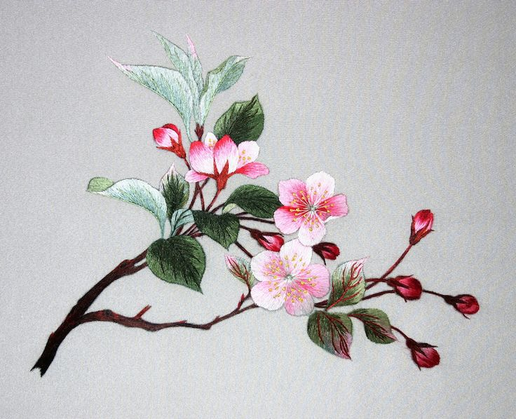peach-blossoms.jpg 944×768 pixels. Margaret Lee. Chinese Embroidery
