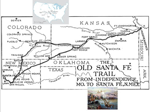 Best Maps Of The Santa Fe Trail Images On Pinterest Santa Fe - Us map with santa fe