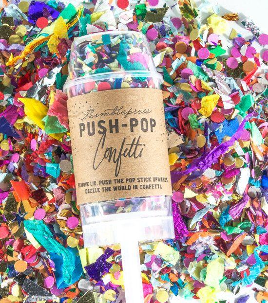 Die Original Push-Pop Konfetti ™ von thimblepress auf Etsy