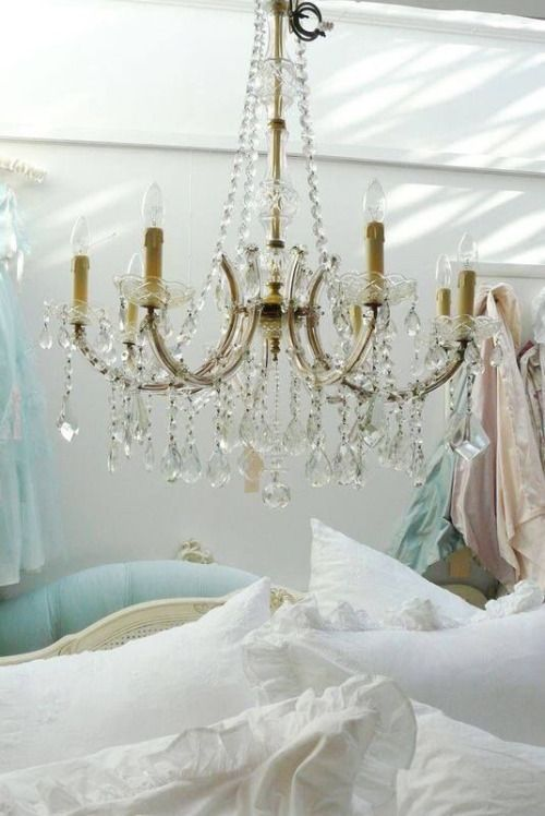 All Things Shabby And Beautiful. Shabby Chic ChandelierShabby CottageCottage  ChicVintage LightingDream BedroomLighting ...