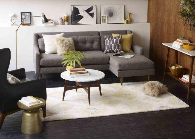 Les 25 meilleures id es de la cat gorie canap s gris fonc for Deco salon avec carrelage gris