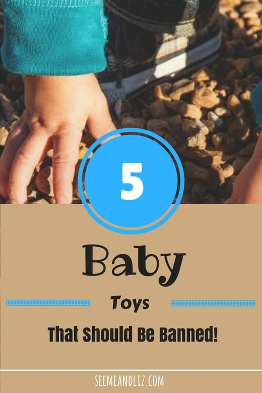 These are the 5 worst baby (and toddler) toys on the market.  They won't do a thing for your little one's development.  Click to learn why! #babytoys #parentingtips #childdevelopment #kidstoys