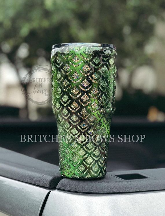 Dragon Scales Tumbler with Ink and Glitter, ANY Color ...