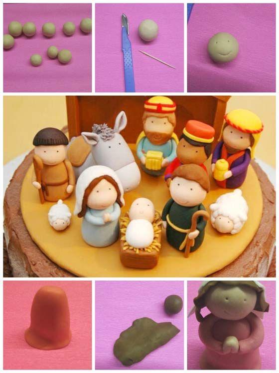 Cake design di Natale: come fare un presepe in pasta di zucchero come cake topper per la tua torta