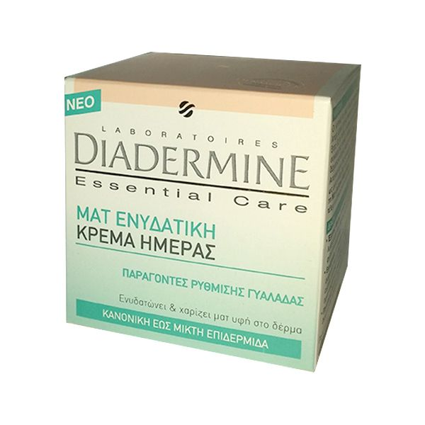 Diadermine Essential Care Ματ Ενυδατική Κρέμα ημέρας (κανονική έως μικτή) 50ml. Αποκτήστε τη από το aromania.gr μόνο με 5,00€! #aromania #Diadermine