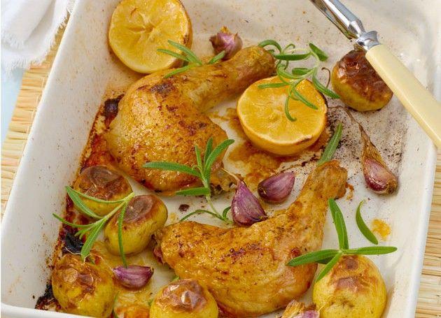 ovnbakte kyllinglår med sitron og rosmarin