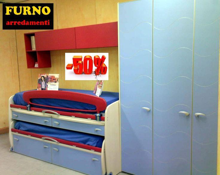 Cameretta Moretti Compact con letto space   Furno Arredamenti