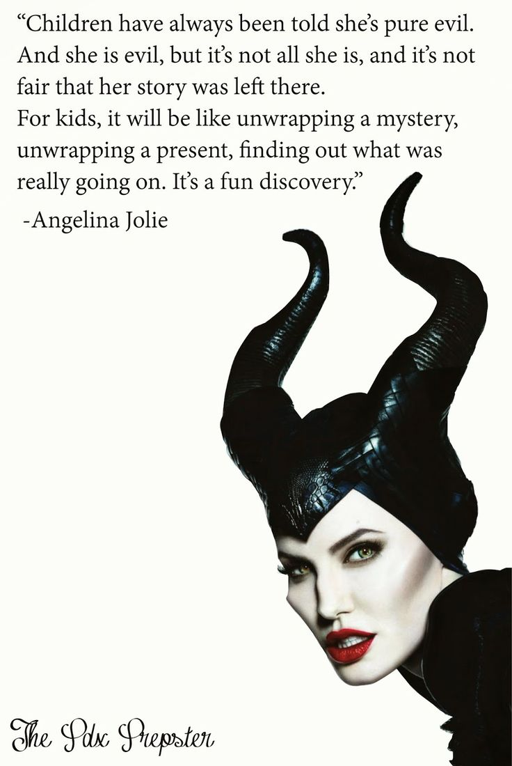 Maleficent quotes from Angelina Joiles