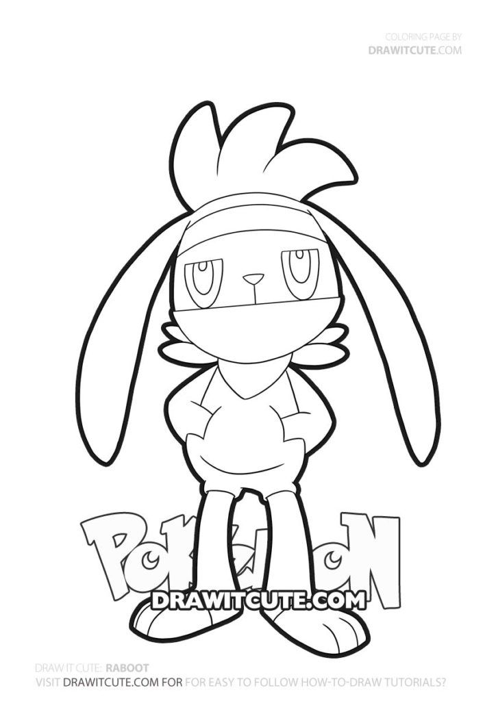 Pokemon Raboot Coloring Page By Draw It Cute Pokemonswordandshieldanime Pokemonswordandshieldshin Pokemon Coloring Pages Pokemon Coloring Pokemon Drawings